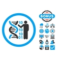 DNA Code Report Flat Icon with Bonus vector image vector image