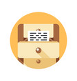 documents simple icon vector image vector image