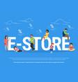 e-store online shopping concept vector image
