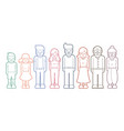 family cartoon icon graphic vector image