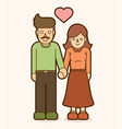 father and mother holding handscouple love vector image