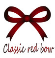 festive red classic bow vector image