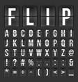 flip countdown digital calendar clock numbers and vector image