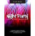 flyer template for night party vector image vector image