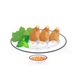fried shrimp2 vector image vector image
