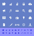 General document color icons on blue background vector image vector image