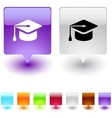 Graduation square button vector image