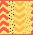 hand drawn chevron and dots seamless vector image vector image