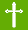 holy cross icon green vector image vector image
