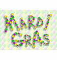inscription mardi gras vector image
