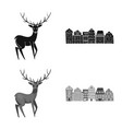 isolated object traditional and tour icon vector image vector image
