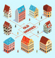 isometric old town flowchart vector image vector image