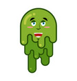 joyful booger smile emotion snot big green wad of vector image vector image