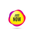 just now symbol special offer sign vector image vector image