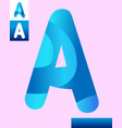 letter a graphic design vector image vector image