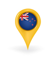 Location New Zealand vector image vector image