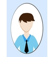 Male avatar or pictogram for social networks vector image vector image