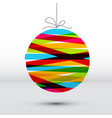 minimalistic simple christmas card vector image vector image