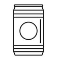 natural soda tin can icon outline style vector image vector image