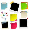 note papier sticker postit vector image vector image