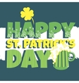 Patricks day Beer vector image vector image
