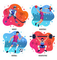 people in sport 2x2 design concept vector image vector image