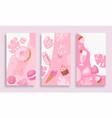 pink sweet dessert cartoon vector image