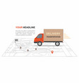 red cargo delivery transporation vector image vector image