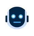 robot face icon shocked face emotion robotic emoji vector image vector image