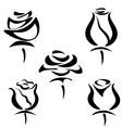 Rose set of symbols vector | Price: 1 Credit (USD $1)
