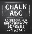 rough chalk latin alphabet vector image vector image