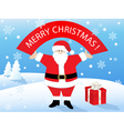 santa claus with banner vector image vector image