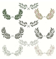 set wreath hand drawn vector image vector image