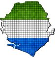 Sierra Leone map with flag inside vector image