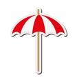single parasol icon vector image
