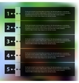 Step progress options banners on defocused vector image vector image
