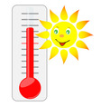 sun of thermometer vector image