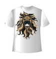 t shirt lion vector image vector image