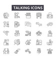 talking line icons for web and mobile design vector image