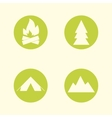 tourist sign icon set camping symbols travel vector image