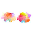 two set colorful watercolor splash banners vector image vector image