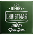 Typographic Christmas Background vector image vector image