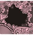 Valentines day card hearts pattern black and pink vector image vector image