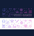 video games outline colored banners vector image vector image