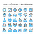 water line icon vector image