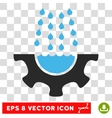 Water Shower Service Gear Eps Icon vector image