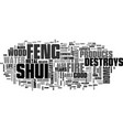 what is feng shui text word cloud concept vector image vector image