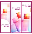 Abstract geometric colorful 3 banners vector image