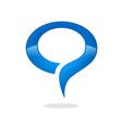 talk bubble round logo vector image