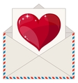Envelope with a Letter in the Form of Valentines vector image